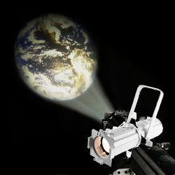 Chauvet EVE E-50Z WHT LED Ellipsoidal with Hard Edged Warm White Spot Light in White Casing