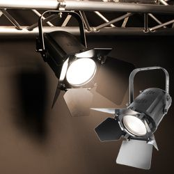 Chauvet DJ EVE F-50Z LED Fresnel Fixture with Soft Edged Warm White Spot Light with D-Fi Wireless Capability