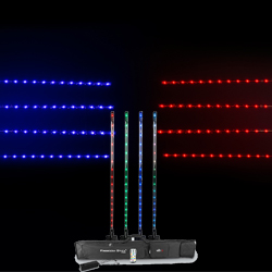 Chauvet DJ Freedom Stick Pack Lighting Package with 4 Freedom Sticks, Multi-Charger, IRC-6 Remote, and Carrying Bag