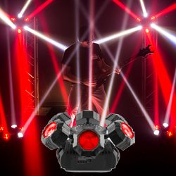 Chauvet DJ Helicopter Q6 Multi-Effect Moving Head Light with Strobe and Red Green Laser