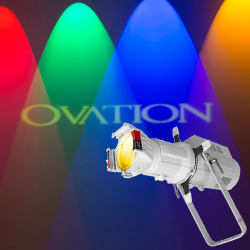 Chauvet Pro OVATION E-910FC-WHITE CASING LED RGBAL ERS Style Light Fixture in White Casing