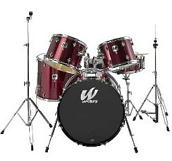Westbury W575TYT 5 piece stage drum kit (No Cymbals) - Burgundy