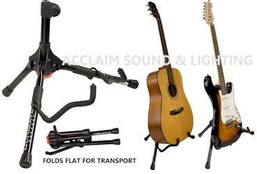 Ultimate Support GS55 Ultra Compact, A-Frame Style Genesis Series Guitar Stand with Locking Legs (discontinued clearance)