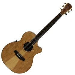 Cole Clark CCAN2EC-COLB Angel 2 Series Cedar of Lebanon and Blackwood 6 String Acoustic Electric Guitar