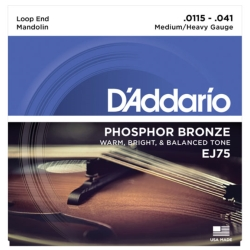 D'Addario EJ75 Phosphor Bronze Medium/Heavy Mandolin Strings