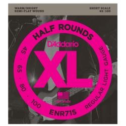 D'Addario ENR71S Half Rounds Regular Light Electric Bass Strings 45-100