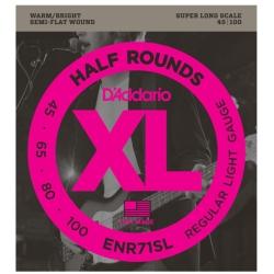 D'Addario ENR71SL Half Rounds Regular Light Electric Bass Strings 45-100
