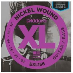D'Addario EXL156 XL Nickel Wound Fender Bass VI Electric Bass Strings 24-84