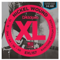 D'Addario EXL157 Nickel Wound XL Medium Baritone Electric Guitar Strings 14-68