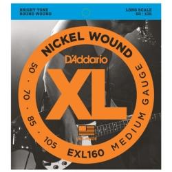 D'Addario EXL160 Medium XL Nickel Wound Electric Bass Strings 50-105