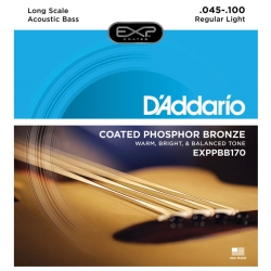 D'Addario EXPPBB170 Coated Phosphor Bronze Acoustic Bass Strings 45-100