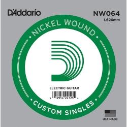 D'Addario NW064 Nickel Wound Electric Guitar Single String .064