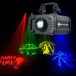 American DJ GOBO-PROJECTOR-IR 12W Mobile Projector with 4 GOBOs