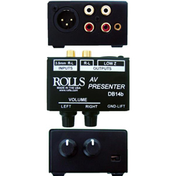 Rolls DB14B A/V Presenter Direct Box with Individual Volume Controls