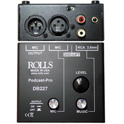 Rolls DB227 Podcast Pro Microphone/Source Mixer