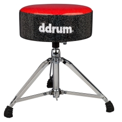 DDrum MFAT RB Mercury Fat Drum Throne-Red and Black