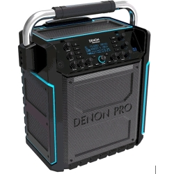 Denon Pro COMMANDER SPORT Rechargeable Battery Operated Portable Water-Resistant 120W All-In-One PA System with Bluetooth