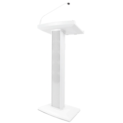 Denon Pro LECTERN ACTIVE WHITE Lectern with Active Speaker Array in White