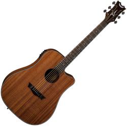 Dean AX DCE MAH AXS Dreadnought Cutaway 6 String RH Acoustic-Electric Guitar - Mahogany