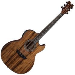 Dean EX-KOA Exhibition Koa Thinline Cutaway 6 String Acoustic-Electric Guitar Natural