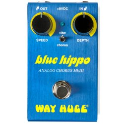 Dunlop WM61 Way Huge Electronics Mini Blue Hippo Analog Chorus Effects Pedal