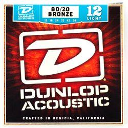 Dunlop DAB1254 Bronze Light 80/20 Acoustic Guitar Strings