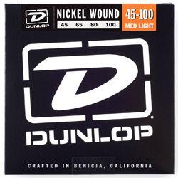Dunlop DBN45100 Nickel Wound Medium Light 45-100 Bass Strings