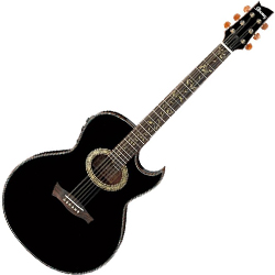 Ibanez EP10-BP Steve Vai Signature 6 String Acoustic Electric Guitar in Black Pearl High Gloss