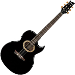 Ibanez EP5-BP Steve Vai Signature 6 String Acoustic Electric Guitar in Black Pearl High Gloss