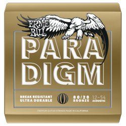 Ernie Ball 2086EB Paradigm Paradigm 80/20 Bronze Acoustic Guitar Strings .012-.054 Medium Light