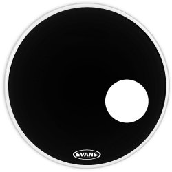 "Evans BD24RB EQ3 Black 24"" Resonant Bass Drum Head"