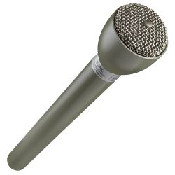 "Electro Voice 635L Beige 9.5"" Long Handle Omnidirectional Dynamic Broadcast Microphone"