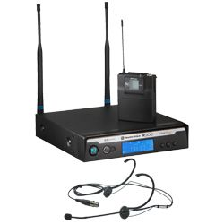 Electro Voice R300-E-B (678.5-693.5 MHZ) Headworn Wireless Microphone System in Case