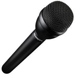 "Electro Voice RE50N/D-L Black 9.5"" Long Handle Dynamic Omnidirectional Broadcast Interview Microphone with N/DYM"