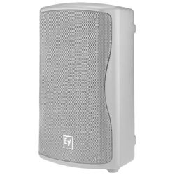 Electro Voice ZXA1-90W-120V White Casing Compact Powered 2-Way 8 Inch Loudspeaker