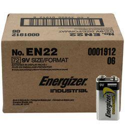 Energizer EN-22-72pack 9V Industrial Battery 72 pack