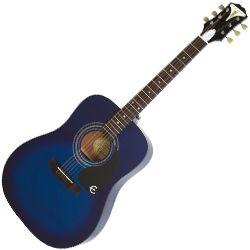 Epiphone EAPRTLCH Trans Blue Pro-1 Acoustic 6 String RH Acoustic Guitar
