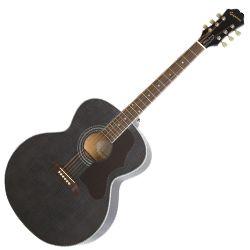 Epiphone EJ2ATBNH Trans Black Limited Edition EJ200 Artist 6 String RH Acoustic Guitar