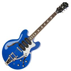 Epiphone ETR3CPNB Blue Royale Limited Edition Riviera Custom P93 6 String RH Semi-Hollow Guitar