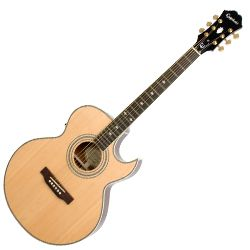 Epiphone PR5ENAGH Natural PR5-E 6 String RH Acoustic Electric Guitar