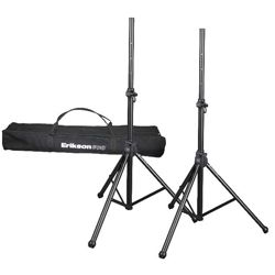 Erikson Pro SP320IC 2 Speaker Stand Kit with Carrying Bag