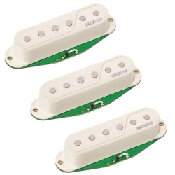 Fishman PRF-STR-WH3 Fluence Single Width Pickups for Strat, Set of 3 in White