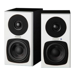 """Fostex PM0.3H-W 3"""" 2-Way 30W Personal Active Speaker System-Pair in White"""