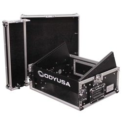 Odyssey FR0802 Flight Ready Combo Rack 8U Top Slanted Rack Space & 2U Bottom Vertical Rack Space