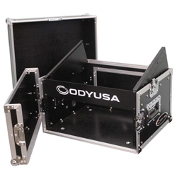 Odyssey FR0804 Flight Ready Combo Rack 8U Top Slanted Rack Space & 4U Bottom Vertical Rack Space