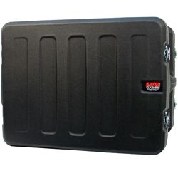 "Gator G-Pro-12U-19-RR 12 Space 19"" Deep Molded Audio Rack Case with Rear Rail"