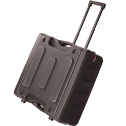 "Gator G-ProR-4U-19-RR 4 Space 19"" Deep Molded Audio Rack Case with Rear Rail and Wheels"