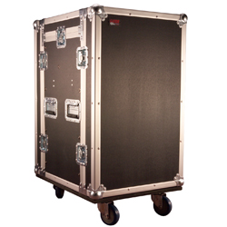 Gator G-TOUR 10x12 PU ATA Molded Pop Up Console Rack 10 Spaces Top 12 Spaces Bottom with Casters