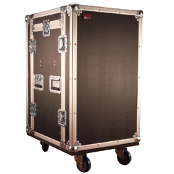 Gator G-TOUR 10x14 PU ATA Wood Flight Pop Up Console Rack Case with 10 Spaces Top and 14 Spaces Bottom with Casters