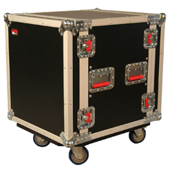 Gator G-Tour 12UCA-24D 12 Space 24 inch Flight Rack with Casters 2 locking and 2 non locking